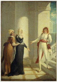 Scene from Twelfth Night: Maria, Olivia, Viola - Hamilton, William - 1789