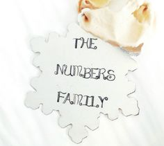 Personalized Family Snowflake Christmas Ornament