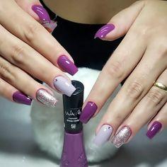 Purple Chrome Nails, Manicure E Pedicure, Gel Nail Designs, Nail Shop, Nail Tutorials, French Nails, Nail Artist, Natural Nails, Swag Nails
