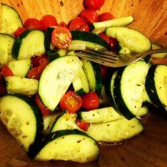 Vegan Cucumber Tomato Salad Recipe