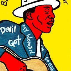 Skip James Blues Folk Art