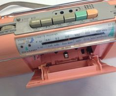 Vintage 80s Sharp QT50 Pastel Pink Boombox Radio by witchtrials