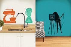 Adesivos de Parede: Ideias para sua sala e cozinha