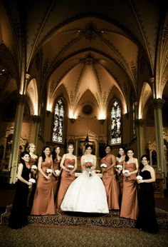 Red, bridesmaids, long dress, sweetheart, black, bridesmaids, dress