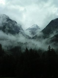 Through The Mist by ongaku-shojo.deviantart.com on @deviantART - Mountains (Switzerland)