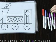 Dry Erase Learning Mats {Learning Tools}