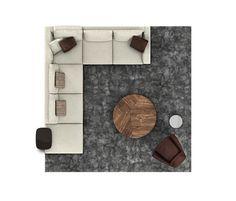 ANDERSEN 02 Furniture Layout, Furniture Plans, Furniture Design, Home Living Room, Living Room Furniture, Office Furniture, Wood Tile Texture, Color Plan, Wine Glass Holder