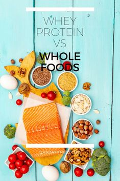 There's a lot of debate in bodybuilding and fitness forums about nutrition, particularly whey protein vs whole foods. Find out more info and what is best for you here - QandA Fitness - #fitness #WholeFoods #WheyProtein #HealthyEating