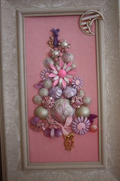 Vintage Jewelry Christmas Tree Girly Bubblegum Pink by HoboSolos, $100.00