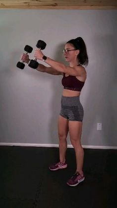 Fitness Workouts, Fitness Workout For Women, At Home Workouts, Body Workouts, Exercices Swiss Ball, Dumbbell Workout, Shoulder Workout, Upper Body, Workout Videos
