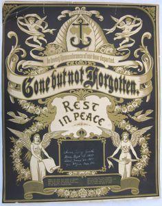 "Victorian family memorial ""Gone but not Forgotten"""