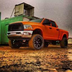 orangeDodge#diesels #diesel my cousins truck