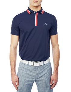 J Lindeberg Official Store, M Dylan slim WOW Jersey, navy purple, Golf Jersey, 42MG530275601