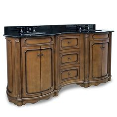 Cashmere (double) 74.25-Inch Walnut Traditional Bathroom Vanity With Mirror Option