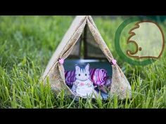 how to: miniature tent Kids Teepee Tent, Diy Tent, Family Outfits, Family Clothes, Sylvania Families, Tent Fabric, Waterproof Tent, One Tree, Miniatures