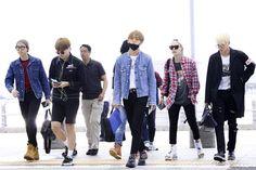 #BTS #방탄소년단 ❤ at the airport en route to Paris for KCON!