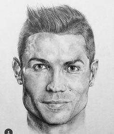 Christiano Ronaldo drawing by @peterburtart  #illustration #christianoronaldo