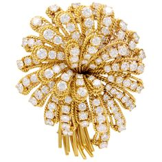 H & D Diamonds is your direct contact to diamond trade suppliers, a Bond Street jeweller and a team of designers.www.handddiamonds... Tel: 0845 600 5557 - Van Cleef & Arpels Diamond Flower Brooch. Circa 1980s