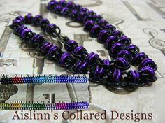 Black Base Barrel BDSM Slave Collar Choker by aislinnscollared