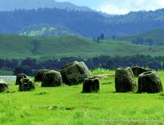 #Laos #Travel The mysterious Plain of Jars. Thousands of giant stone jars are scattered about the Xieng Khouang plain in Laos. Excavation by Lao and Japanese archaeologists has supported the conclusion that these were funeral megaliths, with the discovery of human remains, burial goods and ceramics found in association with the stone jars. The Plain of Jars is dated to the Iron Age (500 BCE to 500 CE).  Image: Laos Pictures ຮູບພາບປະເທດລາວ