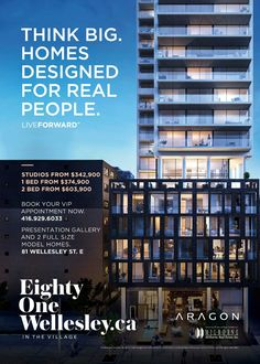 Eighty One Wellesley by Aragon Properties   #printdesign #advertisement #realestate #branding #graphicdesign #design #vancouver