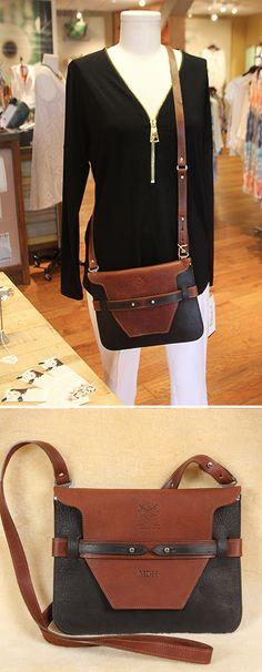 Front /& Back Mothers Day Bucket Bag w//Genuine Leather Trim Regular