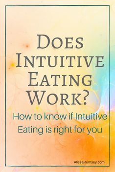 Intuitive Eating helps you make peace with food. But does intuitive eating work? Here's how to tell if intuitive eating is for you. How To Know, How To Find Out, Ketones Diet, Grapefruit Diet, Ketogenic Diet Plan, Intuitive Eating, Diets For Beginners, Mindful Eating, Trying To Lose Weight