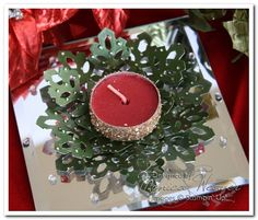 altered tea light candles | Poison Ivy Metal Embossed Snowflake Tea Light Candle Holders
