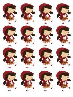 kit digital para imprimir chapeuzinho vermelho Red Party, Baby Party, Red Riding Hood Party, Little Red Ridding Hood, Fairytale Party, Fairy Tales For Kids, Event Themes, Foam Crafts, Cute Cartoon