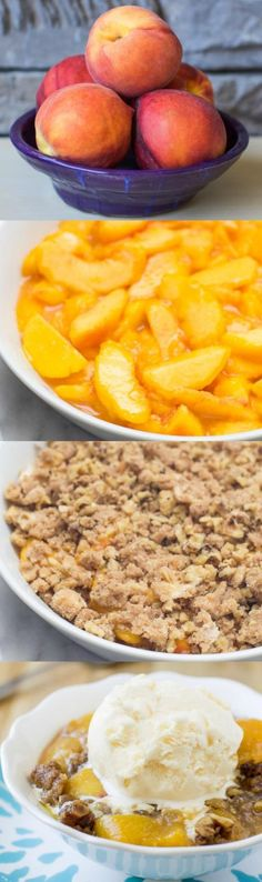 When summer yields the sweetest peaches, make this super simple Fresh Peach Crisp. Skip the fussy pie crust and use my crunchy walnut topping instead!