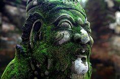 Carving at Bukit Sari Temple, Ubud, Bali