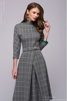 Lovely tailored dress,, would go beautifully with a small percher hat Modest Fashion, Hijab Fashion, Fashion Dresses, Pretty Dresses, Beautiful Dresses, Dresses For Work, Mode Chanel, Business Dresses, Mode Hijab
