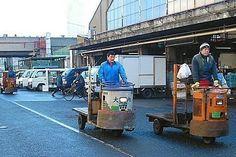 Tokyo Tsukiji Fish Market  Japan's largest and busiest fish market.