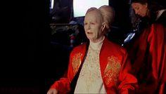 Found on Gothic Charm School, Gary Oldman goofing on the set of Dracula