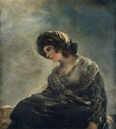 Francisco Goya, The Milkmaid of Bordeaux, Romanticism Spanish Painters, Spanish Artists, Francisco Goya Paintings, Francisco Jose, Old Master, Famous Artists, Oeuvre D'art, Impressionism, Art Pictures