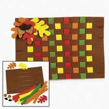 Woven Thanksgiving Placemats - My favorite Thanksgiving activity :)