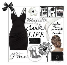 """""""Dark Life"""" by amila-lugavic ❤ liked on Polyvore featuring Giuseppe Zanotti, Gucci, Effy Jewelry, Charlotte Russe, NOVICA, Bobbi Brown Cosmetics, Marc Jacobs, Violet Voss and Cara"""