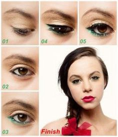 Awesome Christmas Makeup Tutorials --- Step by step of 3 Awesome #Christmas #Makeup #Tutorials.
