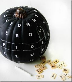 Love this fun chalkboard word find pumpkin!  This would be so much fun to make with the kids!