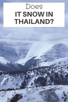Does It Snow in Thailand? - Ramblingj Chiang Rai Thailand, Chiang Mai, Thailand Vacation, Thailand Travel, When Is Winter, Doi Inthanon National Park, Northern Thailand, Where To Go