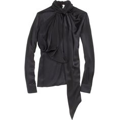Givenchy Tie Neck Blouse ❤ liked on Polyvore