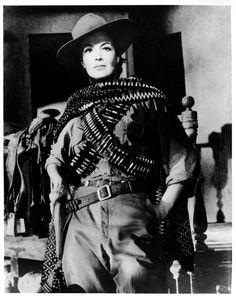 """Maria Felix, conocida por sus papeles en la epoca de oro del cine mexicano,  como una mujer de caracter fuerte en sus peliculas, con personajes como """"Juana Gallo"""", """"Doña Diabla"""", """"La Mujer sin Alma""""."""