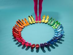 Here's a shoe rainbow,
