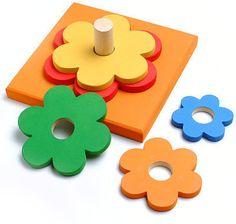 Resultados de la Búsqueda de imágenes de Google de http://www.cajondejuguetes.com.ar/img-artic/didactico-flor-2.jpg Making Wooden Toys, Stacking Toys, Waldorf Toys, Wooden Puzzles, Learning Toys, Wood Toys, Educational Toys, Toys For Us, Montessori Toys