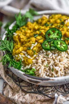 Pea Recipes, Veggie Recipes, Whole Food Recipes, Soup Recipes, Vegetarian Recipes, Cooking Recipes, Healthy Recipes, Vegan Soups, Yellow Split Pea Recipe