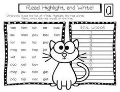 Nonsense-Words-Short-Vowels-1989817 Teaching Resources - TeachersPayTeachers.com