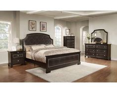 King/cal King Panel Headboard Dark Espresso - QUEEN/KING RAILS DARK ESPRESSO
