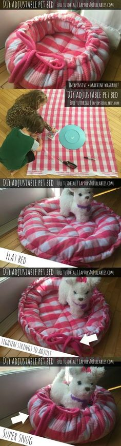 Laptops to Lullabies: DIY adjustable pet bed