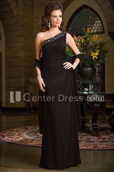 $144.79-Modern One-Shoulder Long Mother Of The Bride Dress With Shawl. http://www.ucenterdress.com/one-shoulder-long-mother-of-the-bride-dress-with-crystal-neckline-and-shawl-pMK_301047.html.  Tailor Made mother of the groom dress/ mother of the brides dress at #UcenterDress. We offer a amazing collection of 800+ Mother of the Groom dresses so you can look your best on your daughter's or son's special day. Low Prices, Free Shipping. #motherdress