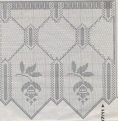Kira scheme crochet: Scheme for curtains